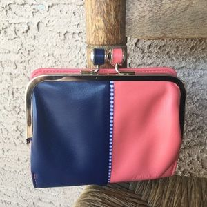 Blue and Peach Nautica Wallet RFID Protection